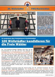 Wöllstädter FWG-Nachrichten – Ausgabe 20