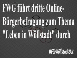 """FWG führt dritte Online-Bürgerbefragung zum Thema """"Leben in Wöllstadt"""" durch"""