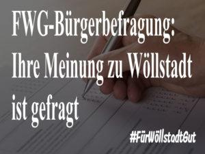 FWG-Bürgerbefragung: Ihre Meinung zu Wöllstadt ist gefragt